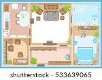 vector illustration. apartment... | Shutterstock .eps vector #533639065