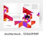 geometric background template... | Shutterstock .eps vector #533639989