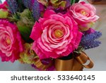 Stock photo colorful decoration artificial flowers 533640145