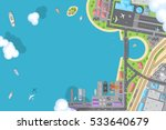 vector illustration. port ... | Shutterstock .eps vector #533640679