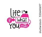 vector poster with phrase decor ... | Shutterstock .eps vector #533640697