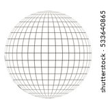 Globe With Grid. Sphere Patter...