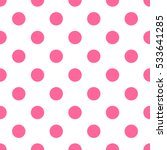 Seamless Pink Polka Dot Patter...
