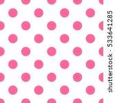 Seamless Pink Polka Dot Patter...