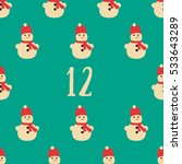 christmas advent calendar set.... | Shutterstock . vector #533643289