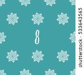 christmas advent calendar set.... | Shutterstock . vector #533643565