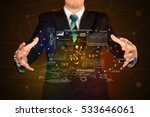 businessman with strategy and... | Shutterstock . vector #533646061