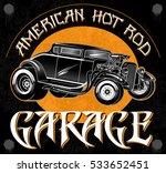 american hot rod garage.... | Shutterstock .eps vector #533652451