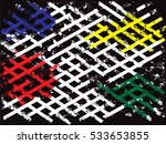 grunge color stripes. overlay... | Shutterstock .eps vector #533653855