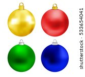 set of colored christmas balls | Shutterstock .eps vector #533654041