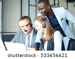 phone operator working at call... | Shutterstock . vector #533656621