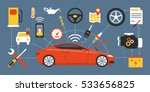 car mainteinance and repair... | Shutterstock .eps vector #533656825