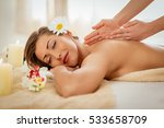 woman enjoying during a back... | Shutterstock . vector #533658709