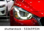 headlights and hood of sport... | Shutterstock . vector #533659534