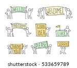 cartoon icons set with little... | Shutterstock .eps vector #533659789