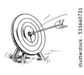 arrow hitting the center of... | Shutterstock . vector #533660731