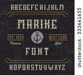 handcrafted 'marine' font with... | Shutterstock .eps vector #533661655