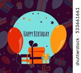 happy birthday background with... | Shutterstock .eps vector #533661661