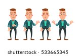 set of emotions. vector hipster ... | Shutterstock .eps vector #533665345