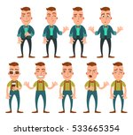 set of emotions. vector hipster ... | Shutterstock .eps vector #533665354