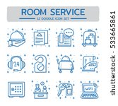 doodle vector line icons set of ...   Shutterstock .eps vector #533665861