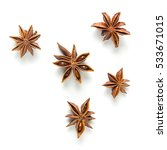 star anise  scattered in a...   Shutterstock . vector #533671015
