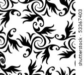 seamless black and white... | Shutterstock . vector #53367403