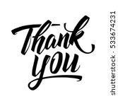 thank you handwritten card....   Shutterstock .eps vector #533674231
