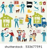 real estate activities icon set | Shutterstock .eps vector #533677591