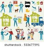 real estate activities icon set | Shutterstock .eps vector #533677591