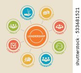 leadership. concept with icons... | Shutterstock .eps vector #533681521