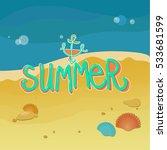 summer coast  lettering summer | Shutterstock . vector #533681599