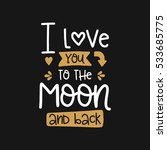 vector poster with phrase and... | Shutterstock .eps vector #533685775