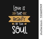 vector poster with phrase and... | Shutterstock .eps vector #533685949