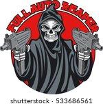 grim reaper holding machine...