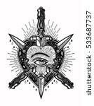 ornate mystic eye inside the...   Shutterstock .eps vector #533687737