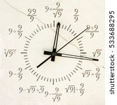 clock white stone mathematical... | Shutterstock . vector #533688295