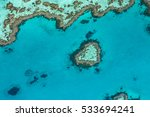 great barrier reef from above ... | Shutterstock . vector #533694241