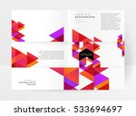 geometric background template... | Shutterstock .eps vector #533694697