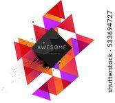 geometric background template... | Shutterstock .eps vector #533694727