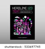fantastic city  abstract art... | Shutterstock .eps vector #533697745