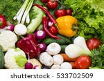 background of fresh vegetables... | Shutterstock . vector #533702509