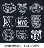 college new york  brooklyn ... | Shutterstock .eps vector #533702899