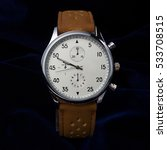 men's wrist watch with brown... | Shutterstock . vector #533708515