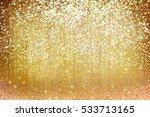Yellow Glitter Golden Holiday...
