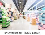 abstract blur supermarket and...   Shutterstock . vector #533713534