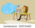 office worker man character... | Shutterstock .eps vector #533714401