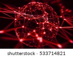 red abstract technology neural... | Shutterstock . vector #533714821