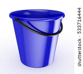 3d blue bucket with reflection  ...   Shutterstock . vector #533716444