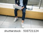 young hipster businessman in... | Shutterstock . vector #533721124
